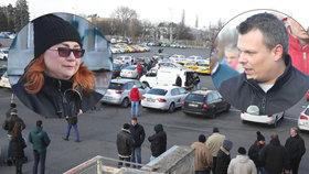 Výhrůžky mezi taxikáři! Po jednání vlády se na Strahově tvrdě pohádali, protesty mohou pokračovat