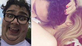 XXXL youtuber FattyPillow se raduje: V posteli s novou láskou!