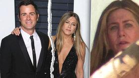 Aniston poprvé po rozpadu manželství na veřejnosti: Oteklé oči a obličej!