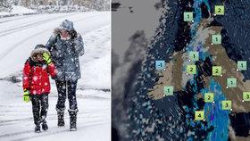 """Británii zasáhne """"sibiřská stvůra"""". Během pár dnů teploty klesnou o 25 stupňů"""