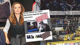 Puhajková je kok*t, vyvěsili transparent fanoušci: Sporťačka Novy hned reagovala