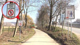 Zmatení chodci na Císařském ostrově: Mají použít bezpečnou trasu, ale tam? Vstup zakázán!