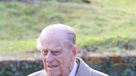 Manžel britské královny princ Philip: Po prodělané operaci kyčle zůstává v nemocnici