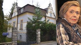 Pět let od smrti Jiřiny Jiráskové (†81): Chátrající dědictví! Vila je prázdná...