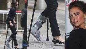 Victoria Beckham (43): Zlámaná nožka po lyžovačce!