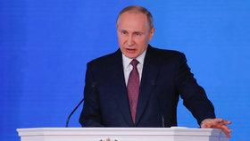 """Putin se chlubil novými zbraněmi: """"Rusko má rakety, jako nikdo na světě"""""""