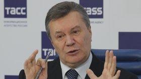 Janukovyč promluvil z ruského azylu. Ukrajinské separatisty označil za obránce