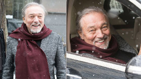 Gott setřásl chřipku a je zpátky ve formě: I ve sněhu byl samý úsměv a plný energie