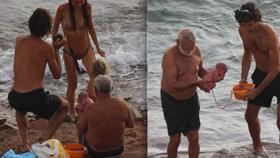Šokující výjev v dovolenkovém ráji: Ruska porodila přímo do moře!