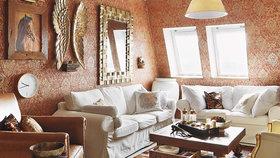 Elegantní domov v koloniálním stylu vznikl spojením dvou menších bytů v paneláku