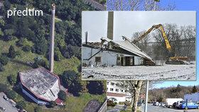 Ani kostel, ani galerie: Opuštěnou Mazutku majitel zboural. Hrozilo její zřícení