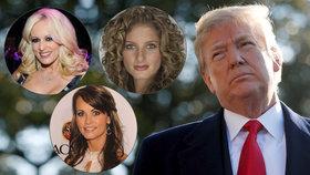 Pornoherečka, modelka a žena z reality show žalují Trumpa. Kvůli obtěžování i tajné dohodě