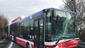 Mezi Kladnem a Prahou sjel příměstský autobus z vozovky. Nehoda se obešla bez zranění