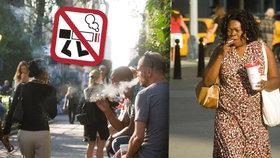 Kuřáky chtějí pokutovat v New Yorku i za chůzi. Rakušané své zákazy naopak mírní