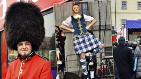 Stovky lidí přilákal »Den Velké Británie«: Na Malostranském náměstí se tančilo i ochutnávalo