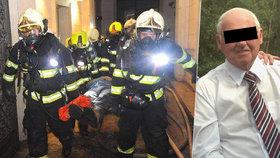 Pátá oběť ničivého požáru v Náplavní? Příčinu smrti 82letého Nizozemce objasní posudek