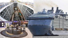Největší výletní loď světa vyplula: Je delší jak Titanic a překypuje luxusem!