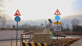 Lávku v Radotíně na celý duben zavřou: Proběhne její statické zajištění proti zřícení
