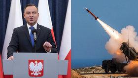 Polsko zbrojí proti Rusům, od USA koupí raketový systém Patriot