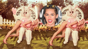 Miley Cyrus provokuje o svátcích: Dostala naplácáno od velikonočního králíčka!