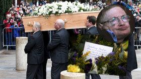 Poslední rozloučení se Stephenem Hawkingem (†76): Přes 500 hostů a popel u panovníků
