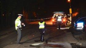 Krev na silnici: Pro zraněného muže do Mukařova letěl vrtulník. Policie vyšetřuje, co se mu stalo