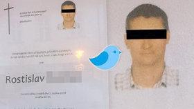 Zemřel Cvrliky (†40), legenda českého Twitteru: Dal si pivo, sedl na lavičku a umřel
