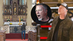 Ohromený zpěvák kapely Metallica na návštěvě kostnice: Je to u vás drsnější, než jsem čekal!