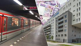 Bydlení u metra jen pro milionáře? Za průměrný byt zaplatíte v Praze i 10 milionů korun