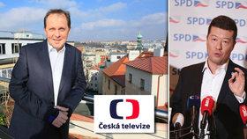 """Okamura přiživil boj Soukupa s ČT """"mafií"""". Němcová Kavčí hory brání"""