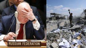 Odpor Moskvy neuspěl. Ruskou zlost po úderu na Sýrii tlumí šéf OSN