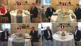 Zeman s Babišem v Lánech: Co bylo u tří večeří, ale na svačině chybělo?