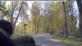 Šílené video: Zfetovaný řidič ujížděl Stromovkou! Lidé před ním museli uskakovat