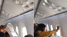 Panika v letadle: Boeingu ve vzduchu vypadlo okénko. Vytřásly ho turbulence