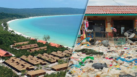 Temná strana turistického ráje: Domy zavalené odpadky, smrad a pláže plné plastu