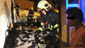 Požár garáží ve Vysočanech: Založila ho opilá žhářka, vypověděli svědci