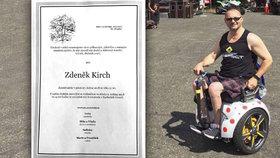 Kdo v srdci žije, neumírá! Rodina pohřbí vozíčkáře Zdeňka, který spáchal sebevraždu