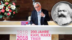 """Podle Kalouska Juncker zradil. """"Jako odpustit Hitlerovi,"""" vzkazují mu Češi za Marxe"""