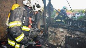 Požár bytu v Kyjích: Plameny spálily vše, co jim přišlo do cesty