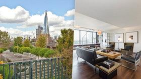 Střešní apartmán Roberta de Nira je na prodej! Luxusní byt s výhledem na Londýn vás vyjde na 21 milionů korun