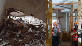 Jarní bouřky napáchaly první škody: V Olomouci se zřítil strop přímo do obýváku bytu
