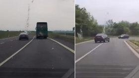 Agresivní řidič několikrát vjel do protisměru! Jen zázrakem se vyhnul srážce