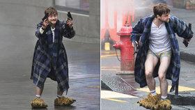 Hvězdný Harry Potter natáčí film: V tygřích papučích vypadá děsivě