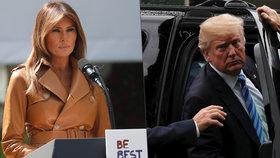 """Melanii Trump pustili z nemocnice. Donald: """"Je skvělé mít první dámu zase doma"""""""