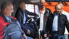 Nepřipoutaný Putin řídil kamion, předpisy ale prý neporušil