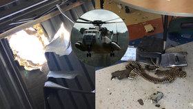 Z armádního vrtulníku vypadla bedna s municí a poškodila texaskou školu