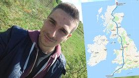 Čech chce přejít celou Velkou Británii! Pro nemocné děti ujde přes tisíc kilometrů