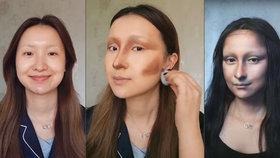 Monou Lisou za 5 hodin! Žena umí s make-upem hotové divy