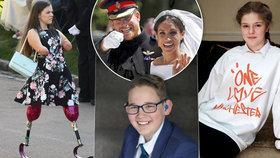 Hrdinové na svatbě Meghan a Harryho: Izzy bez končetin, oběť teroru i neslyšící školák