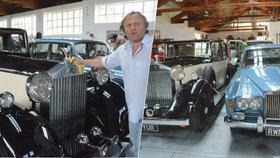 Sběratel z Telče těžce propadl značce Rolls-Royce: Hýčká si čtyři veterány s milenkou